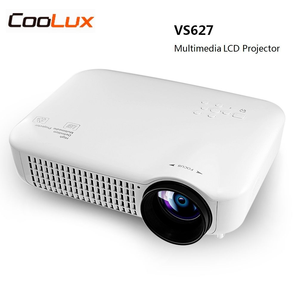 Coolux VS627 LCD Projector 3000 LM 1280 x 800 Pixels Support 1080P for Home Cinema Best Home Theater Proyector Eye Protection