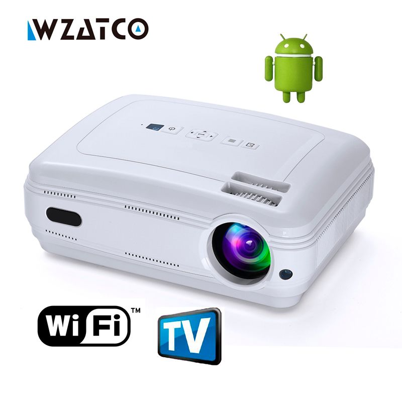 Newest Upgrade Android 7.0 Smart WIFI Airplay Miracast Bluetooth HD LED Projector 5500lumens TV Proyector Beamer Multi for Home