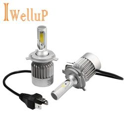 IWELLUP linterna del coche H7 H4 LED H8/H11 9005 HB4/9006 H1 H3 H13 9007 72 W 8400LM /set Auto bombilla faro Kit 6000 K luz Sourcing