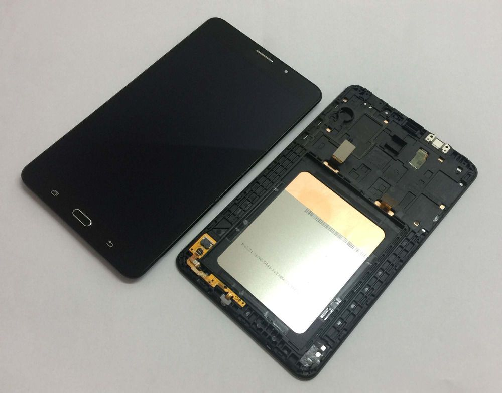 Black For Samsung Galaxy TAB A 7.0 SM-T285 T285 Touch Screen Sensor Glass Digitizer + LCD Display Panel Monitor Assembly + Frame