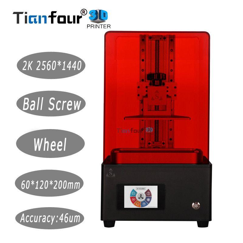 Tianfour neue x-heilung V3 licht härtende UV SLA/LCD/DLP 3D drucker 2 k mit hoher präzision schmuck zahnmedizin präzision teile