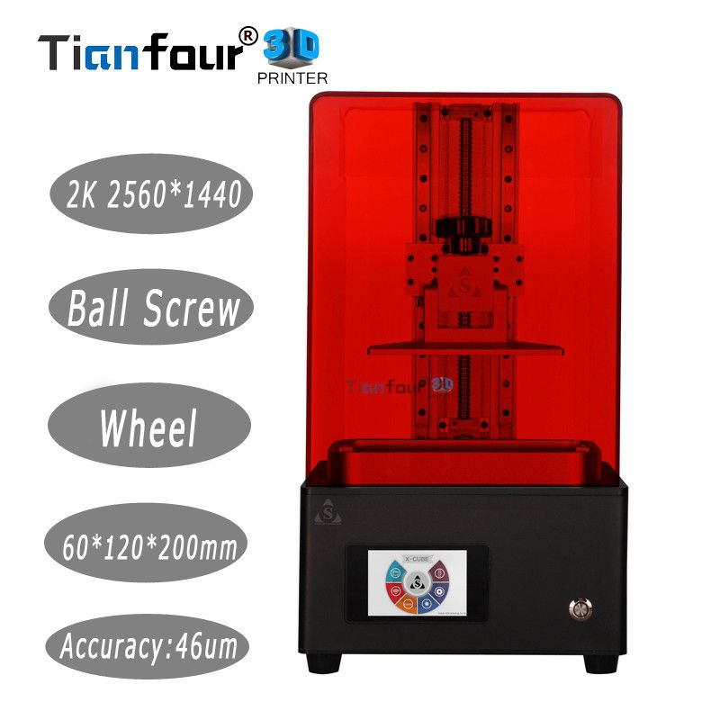 Tianfour new x-cure V3 light curing UV SLA /LCD/DLP 3D printer 2k with high precision jewelry dentistry precision parts