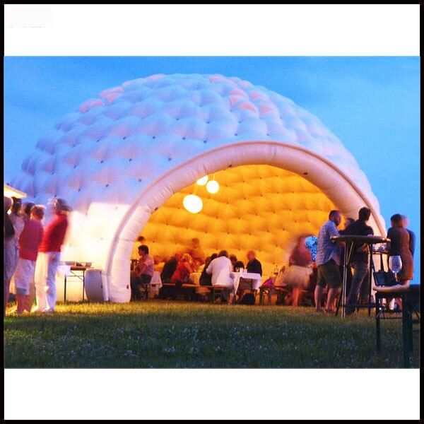 Free shipping Diameter 6m white color inflatable dome tent for party