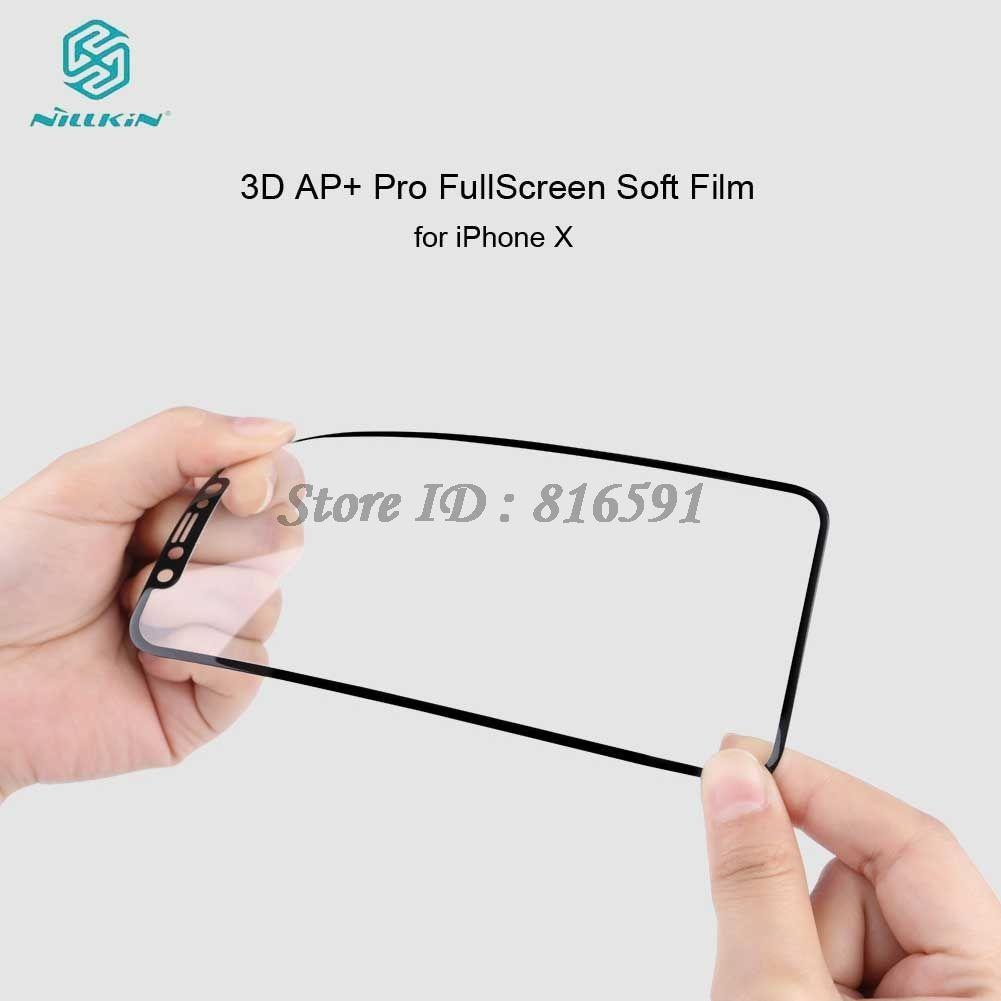 NILLKIN Защитный Плёнки для IPhone X не Стекло мягкие 3D AP + Полное покрытие СПС iPhone X Экран протектор