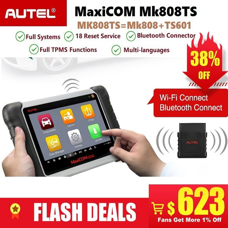 Autel MaxiCOM MK808TS Professionelle Bluetooth OBD2 Diagnose Service Scan Tool Auto Scanner Programmierung TPMS Sensor PK MK808 TS608