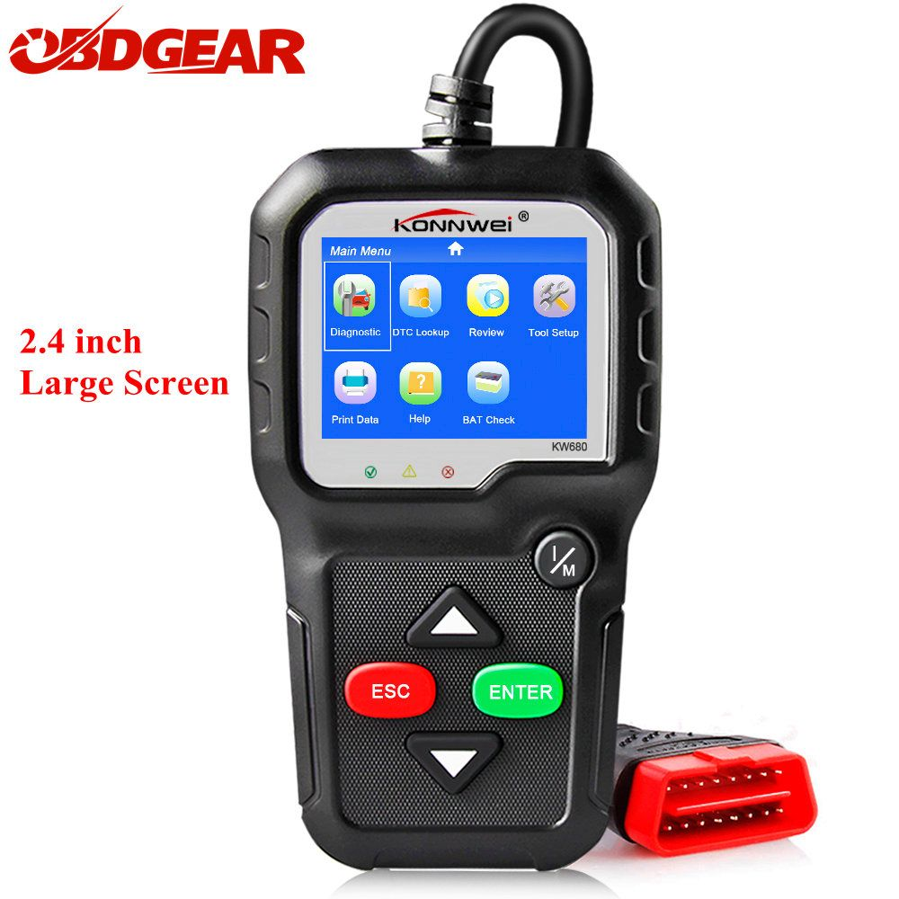 KONNWEI KW680 OBD2 Automotive Scanner Auto Diagnostic Tool Car Code Reader OBD 2 EOBD Engine Read Check Better Than AD310 ELM327