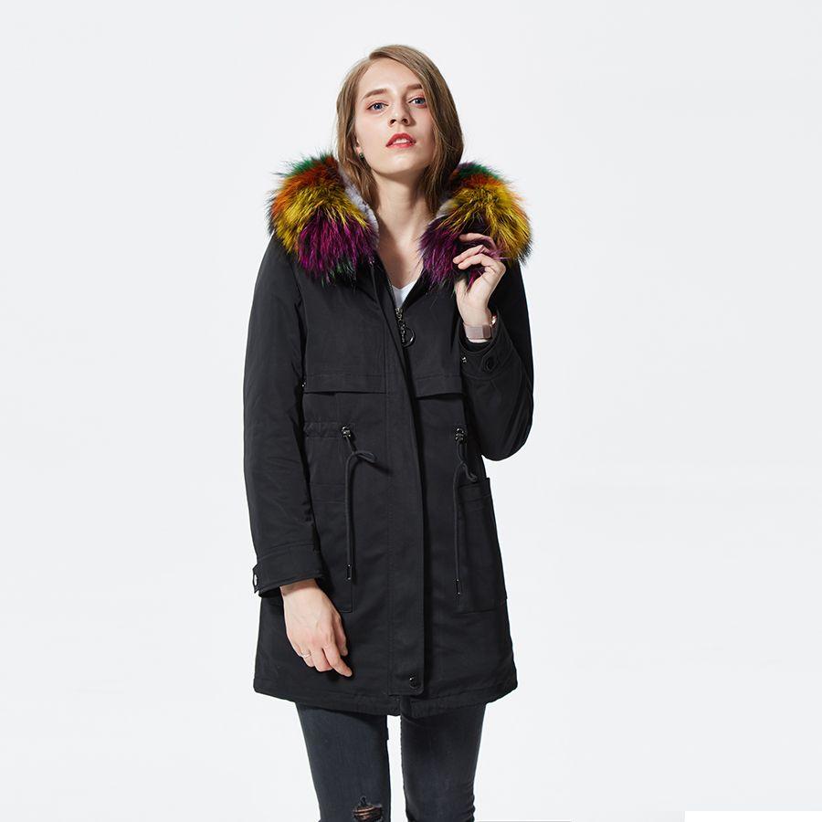 women parkas with fur hoods real rex rabbit fur lined raccoon fur collar colorful long racoon rabbit fur parka