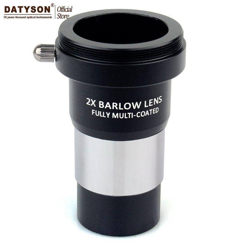 2x линза Барлоу multi покрытием T адаптер двойной линзы 3 элемент APO для 1.25