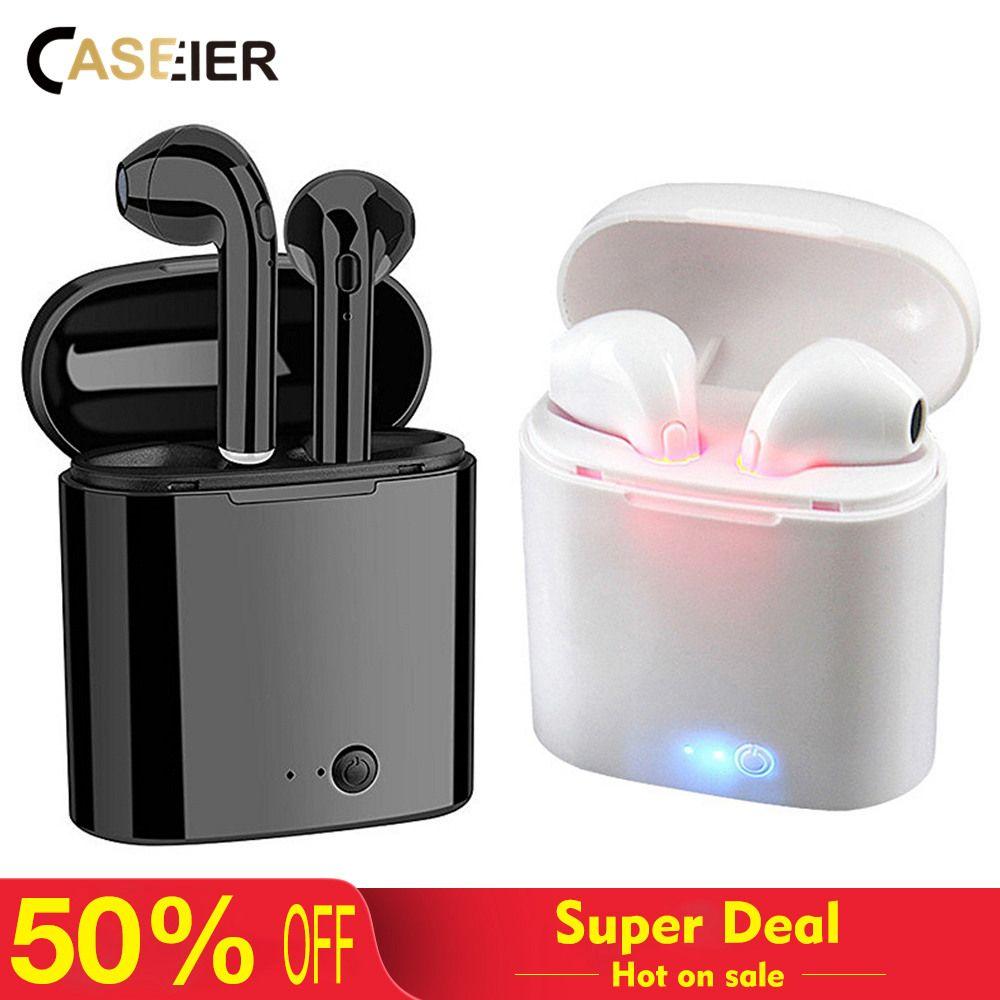 CASEIER I7S Sans Fil Bluetooth Écouteurs HIFI Sans Fil Écouteurs Avec Boîte De Charge Cas Auriculares bluetooth inalambrico Casque