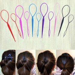New Hot Sale 2Pcs Ponytail Styling Maker Hair Fashion Twist Braid Makeup Tool Accessories