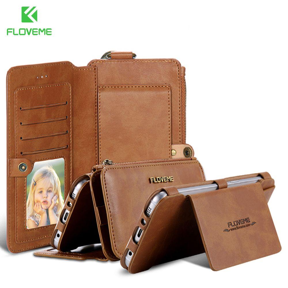 FLOVEME Lederne Mappen-kasten Für Samsung Galaxy S8 S7 S6 Rand Plus Für Samsung S6 Galaxy S7 Rand S8 Plus Telefon Zubehör tasche