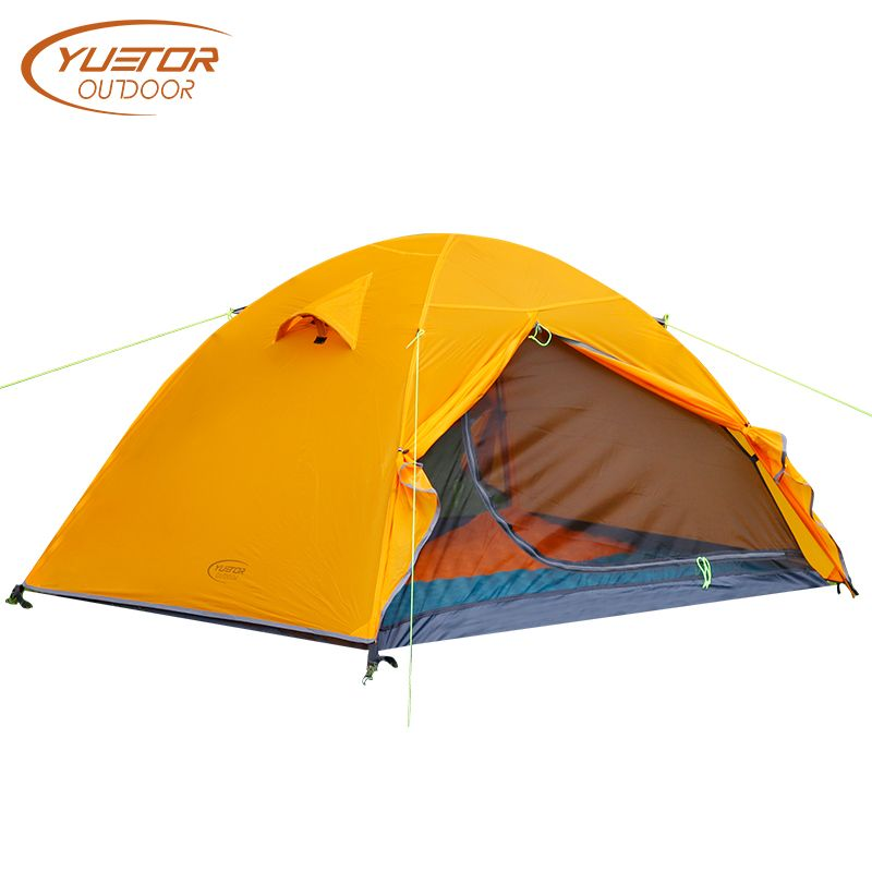 YUETOR OUTDOOR Ultralight Camping Tents 20D Silicone 2 Person 4 Season Tent Inner Mesh Double Layer Waterproof Hiking Tent