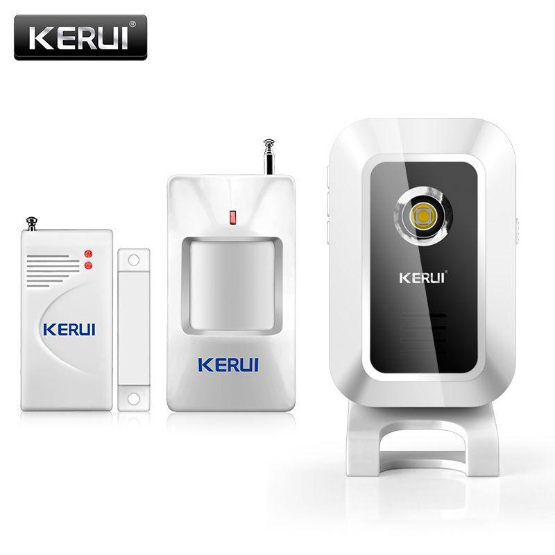 KERUI M7 bienvenue carillon sonnette sans fil infrarouge PIR détecteur de mouvement capteur sonnette bienvenue alarme entrée sonnette