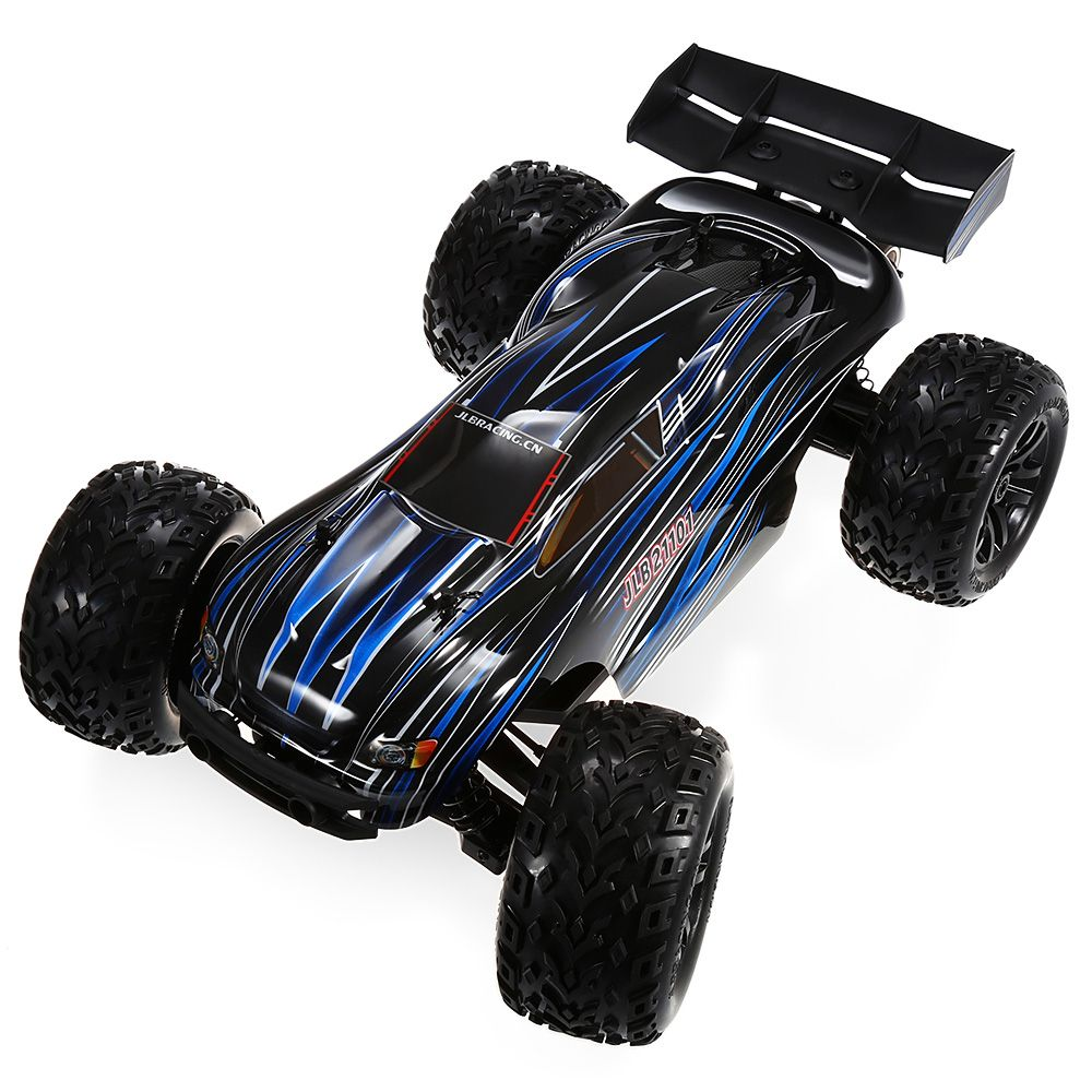 JLB Racing 21101 Remote Control RC Cars 1:10 4WD RC Brushless Off-Road Truck 80km/H With Splashproof Anti-Shock Wheelie Function