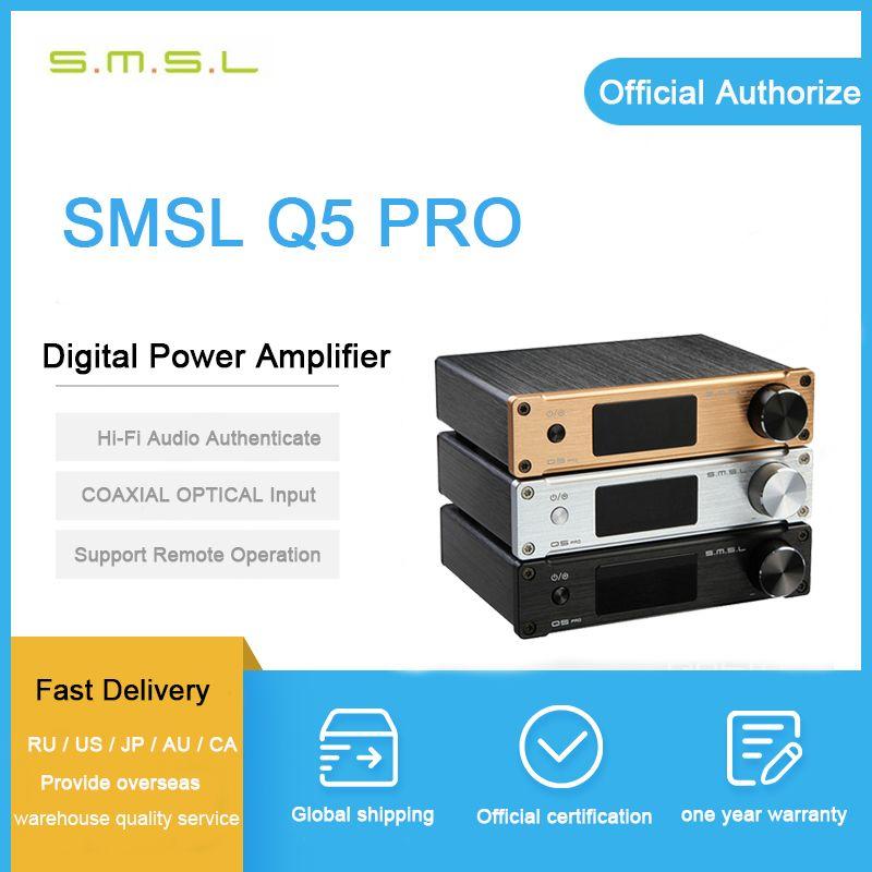 SMSL Q5 Pro amplificateur numérique 2-50 W USB/Coaxial/optique 2x45 W contrôle USB COAXIAL entrée optique 192 KHZ 44Bit avec télécommande