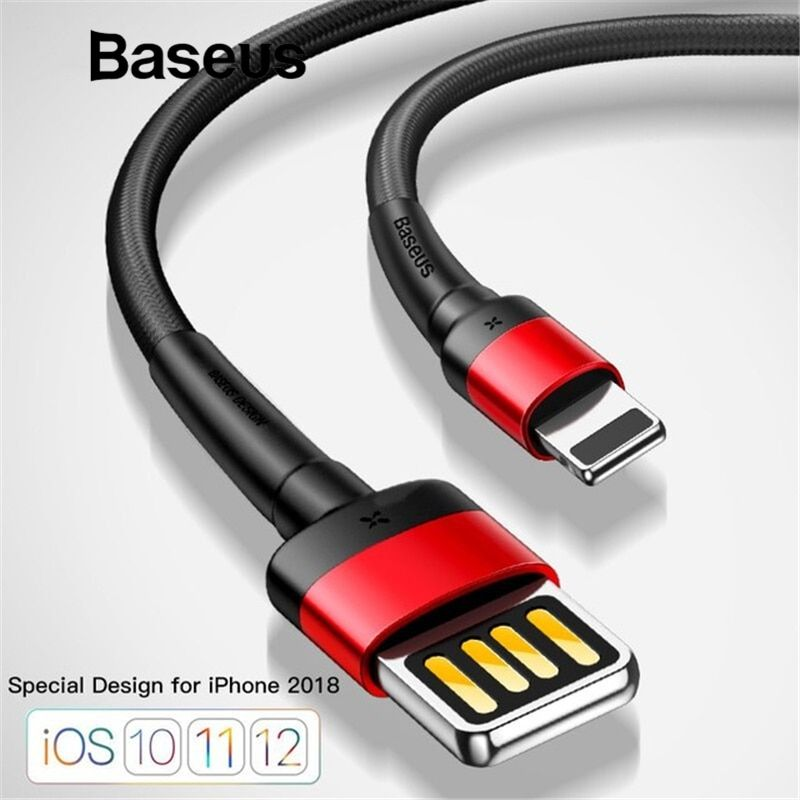 Baseus Upgrade Special Reversible USB Cable for iPhone xs max xr USB Charger Cable for iPhone 8 7 6 6s Plus Fast Charging Cable