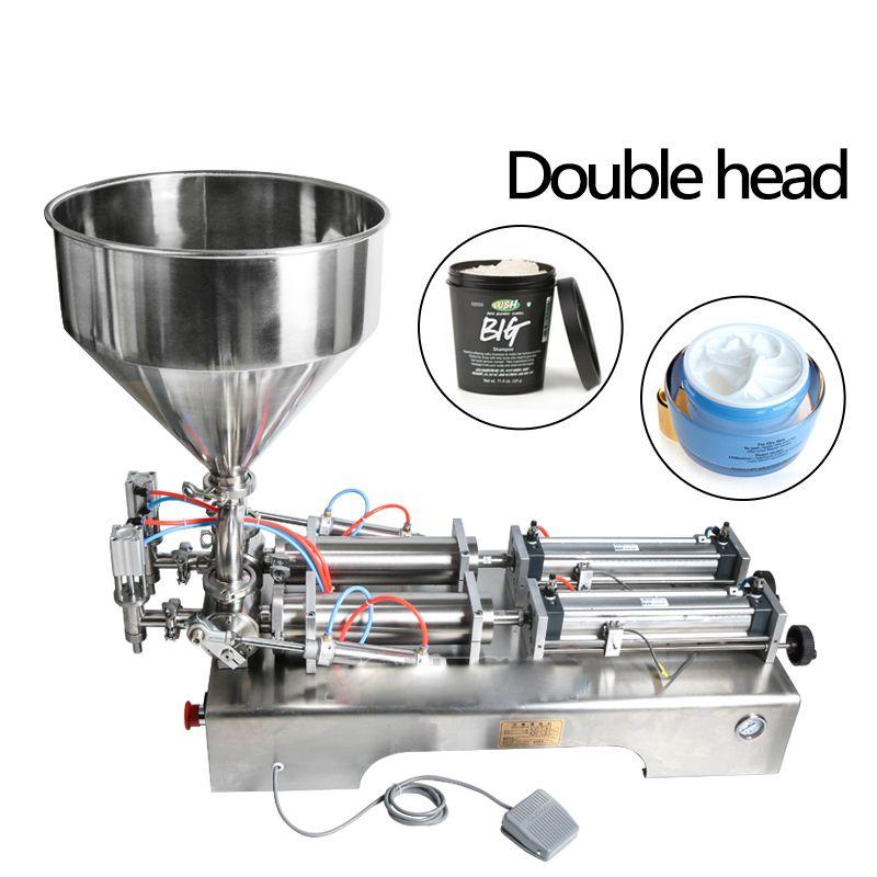 Doppel köpfe füllung maschine Automatische pneumatische trichter Creme Shampoo feuchtigkeitscreme lotion Kosmetische öl honig lebensmittel paste