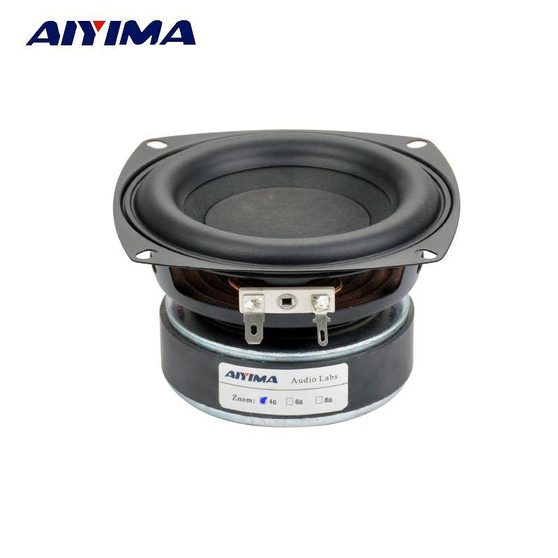AIYIMA 1PC 4 Inch Subwoofer Speaker Unit HIFI 4Ohm 8Ohm 40W Woofer Deep Bass Loudspeaekr Large Magnetic