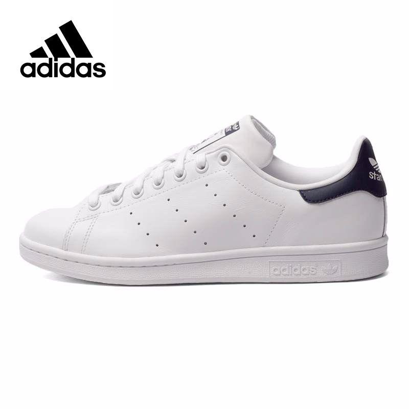 Adidas Originals Men's Stan Smith Skateboarding Shoes,Authentic Black Logo Sneakers Classique Shoes Platform Breathable