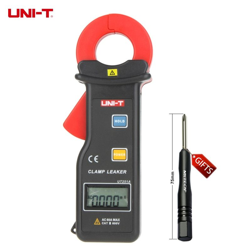 UNI-T UT251A Ammeter Multitester 10000 Counts RS-232 High Sensitivity Leakage Current Clamp Meters w/99 Data Logging