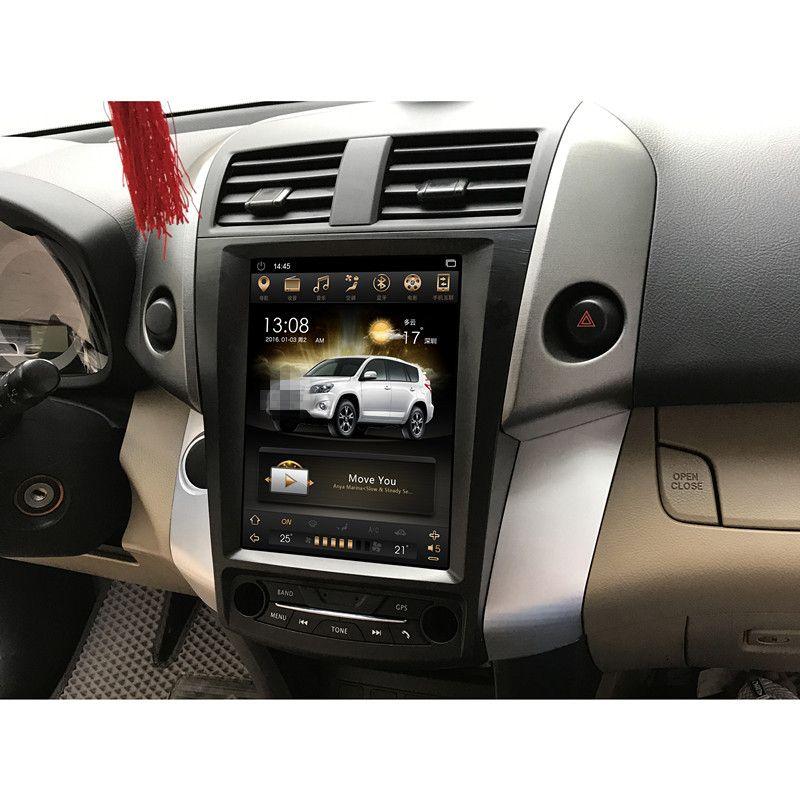 CHOGATH 10,4 ''android 7,1 Vertikale Bildschirm system 2 + 32g Auto Radio GPS Multimedia Stereo für TOYOTA RAV4 2008 -2012 mit karten