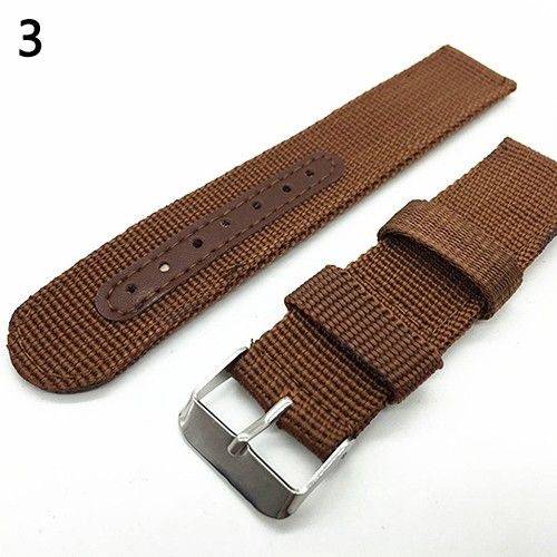 Brown buckle 1PCS High quality 18MM 20MM Nylon Watch band straps waterproof watch strap any colors available