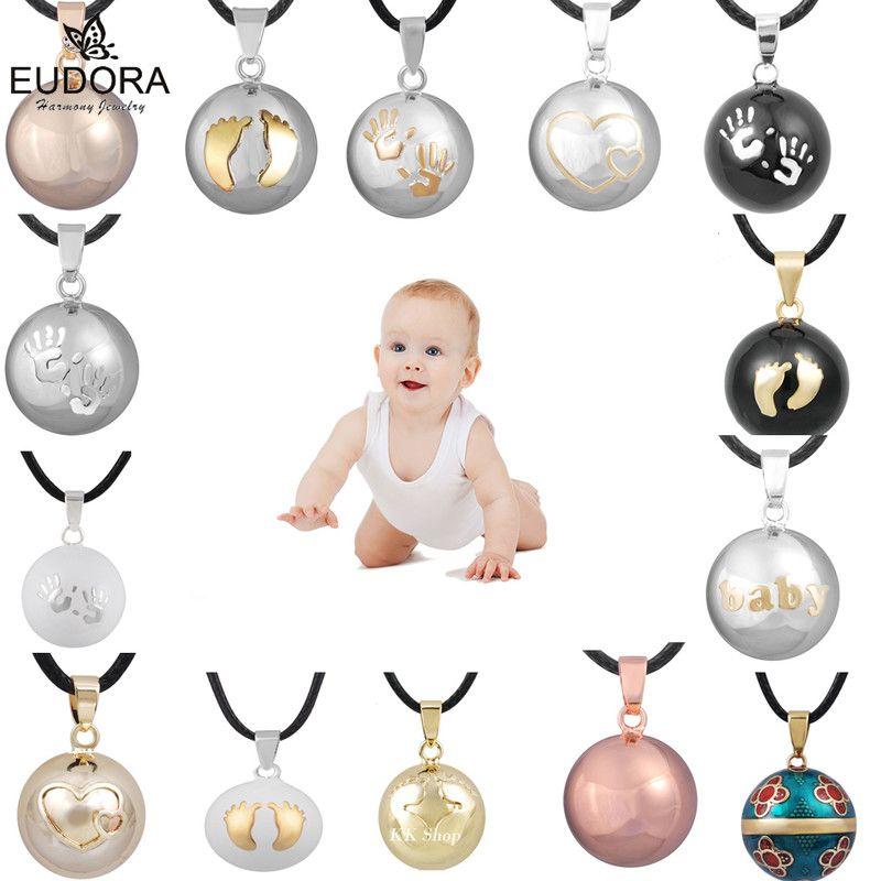 Eudora Harmonie Pendentif Boule Collier Grossesse Carillon Balle Mexcian Bola Pendentifs Souhaitant Boules bijoux fins pour les Femmes Meilleur Cadeau