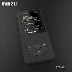 2016 100% Оригинальная английская версия ультратонкие MP3 плеер с 8 Гб хранения и 1,8 дюймов Экран может играть 80 h, оригинальный RUIZU X02