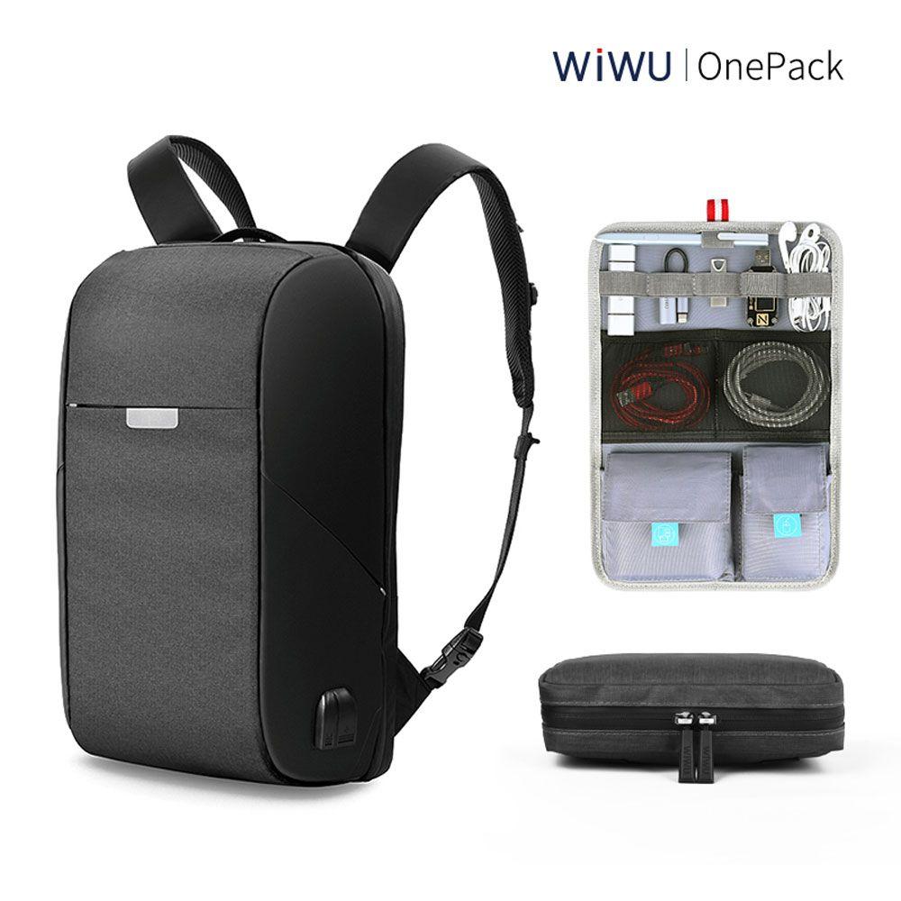 WIWU Laptop Backpack 15.6 15.4 inch Multi-function USB Charging Causal Waterproof Backpacks Large Capacity Laptop Backpack Women