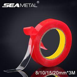 3 m X10/15/20mm sur la Voiture Double Face Bande Colle Autocollants Intérieur Accessoires Mousse Acrylique Transparent adhésif Décoration Auto Colle