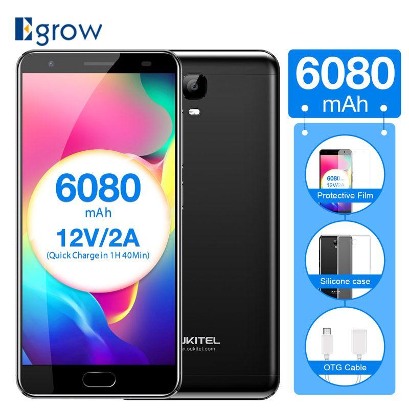 Original Oukitel K6000 Plus Fingerprint 4G LTE Mobile Phone MTK6750T Octa Core Smart Phone 5.5
