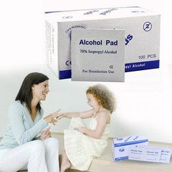 Portable Multi Useful 100pcs/Box Alcohol Swabs Pads Wipes Skin Cleanser Sterilization 70% Isopropyl First Aid Home Drop shipping