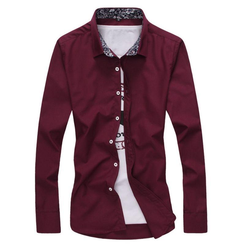 2017 neue Modemarke Männer Kleidung Slim Fit Männer Langarm-shirt Sozialen Masculina Männer Business-hemd