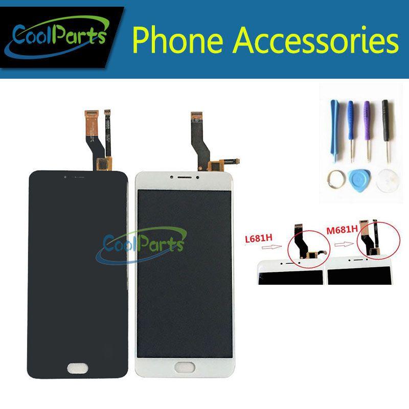 1 PC/Lot de Haute Qualité Pour Meizu M3 Note L681H M681H LCD affichage Et Écran Tactile Assemblée Pièce De Rechange Avec Outil Noir blanc