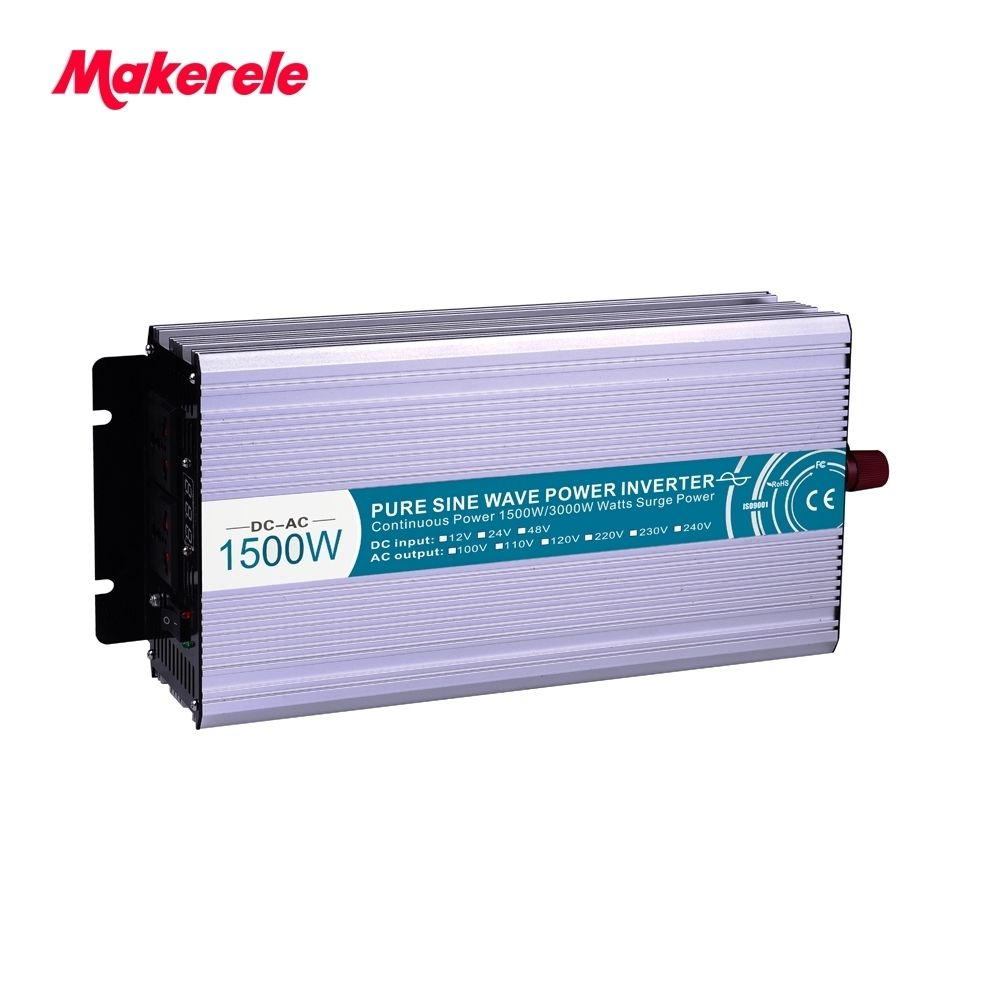 1500W Power Inverter Car Vehicle USB DC12/24/48V to AC110/220V Power Inverter Adapter Converter With 5V USB Phone Charger in-car