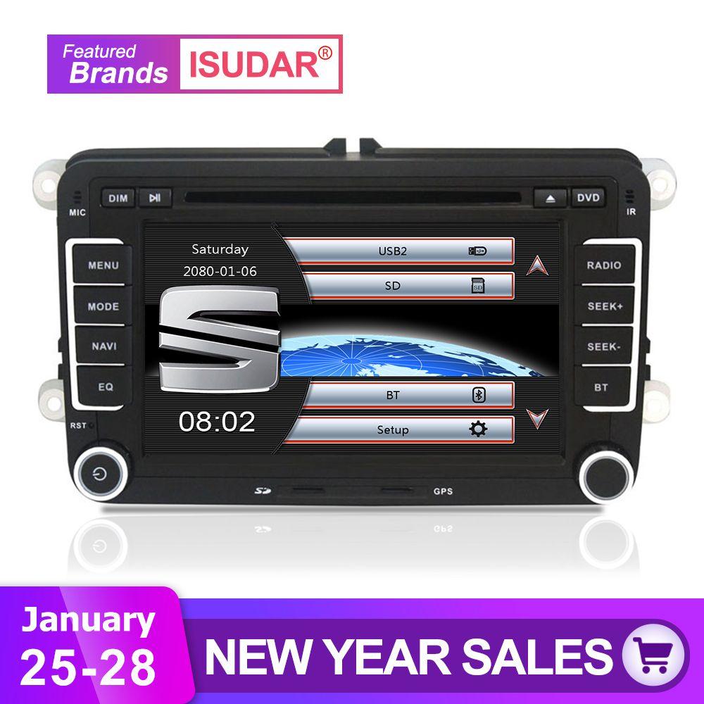 Isudar Car Multimedia player automotivo GPS Autoradio 2 Din For Skoda/Octavia/Fabia/Rapid/Yeti/Superb/VW/Seat car dvd player