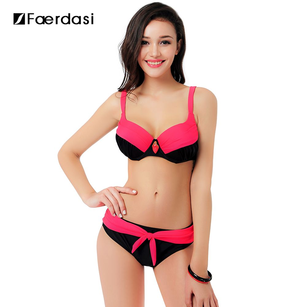 2017 Sexy Swimsuit Popular Swimwear Bikini Women Beachwear Patchwork Summer Style large size Bikinis Set FD81549