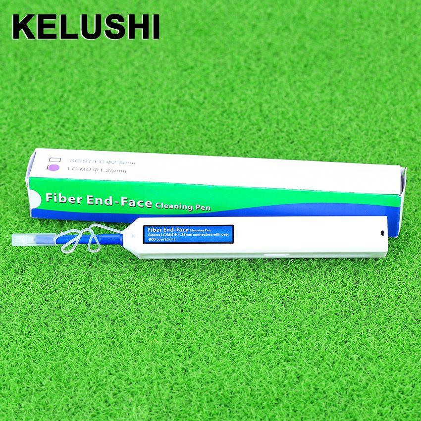KELUSHI Fiber Optique Câble Outils Fibra Optique Connecteur Cleaner Nettoie LC/MU 1.25mm Adaptateurs Embouts avec 800 + nettoyages