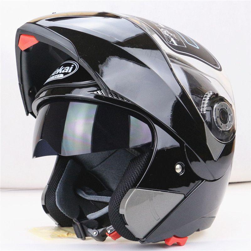 New Arrivals Best Sales Safe Flip Up Motorcycle Helmet With Inner Sun Visor Everybody Affordable Double Lens Motorbike Helmet