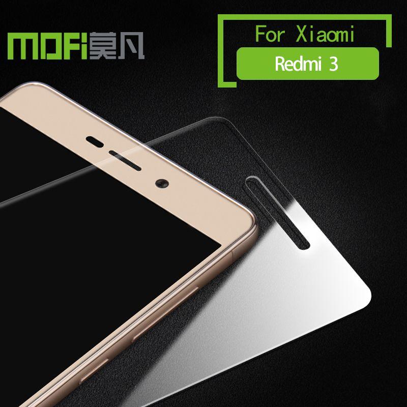 Xiaomi redmi 3 s 3 pro verre xiomi redmi 3 s 3pro trempé xiaome redmi 3 protecteur d'écran 5.0 pouces accessoires d'origine film MOFI