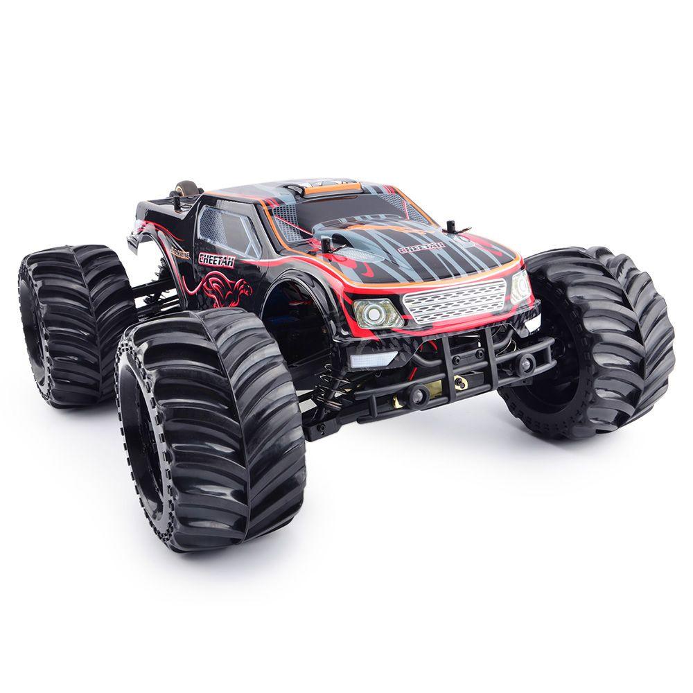 JLB Racing 11101 CHEETACH 1:10 Brushless RC Monster Truck RTR 80km/h / HOBBYWING Waterproof 120A ESC / FS - GT2E Transmitter