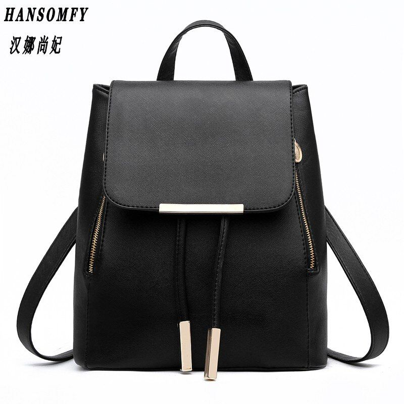 HNSF 100% Genuine leather Women backpack 2017 New wave of female Korean student fashion casual backpack shoulder bag
