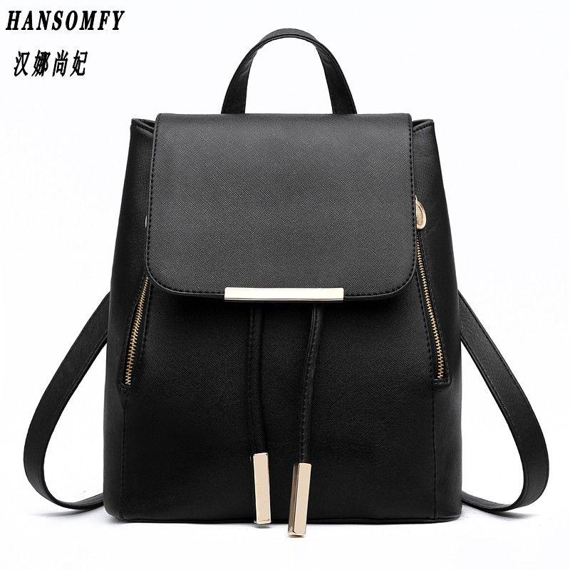 Hnsf 100% cuero genuino mochila de las mujeres 2017 nueva ola de mujeres coreanas moda estudiante mochila informal bolsa de hombro