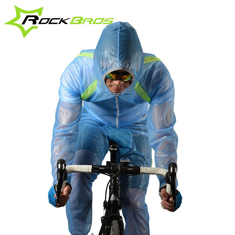 ROCKBROS Outdoor Riding Mountain Bicycle Bike Cycling Raincoat Breathable Compressed Windshield Waterproof Raincoat Suit 3Colors