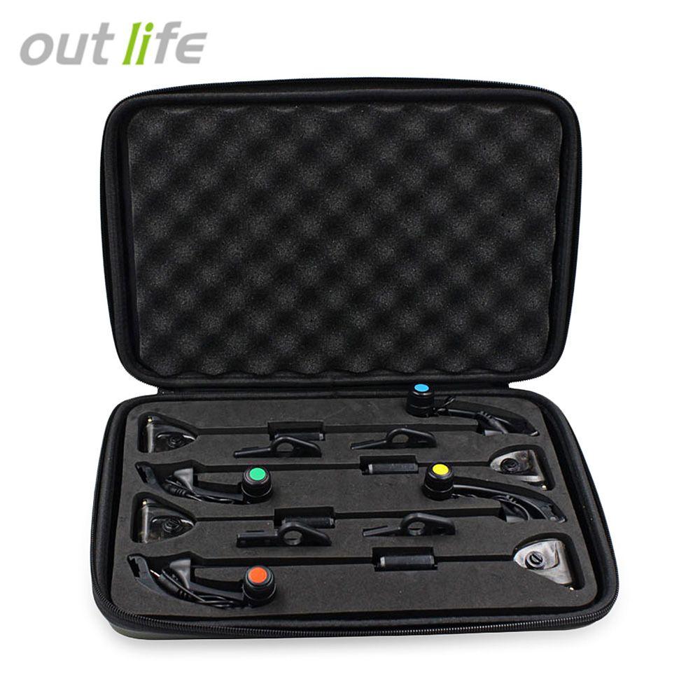 Outlife Fishing Alarm Fishing Bite Indicator Alarm Hanger Swinger Fishing Tackle Tools 4pcs / Box