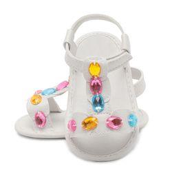 2017 Date De Mode D'été Mignon Bébé Filles Garçon PU Cristal Tout-petits Enfants Occasionnel Creux Chaussures Anti-dérapage Doux Prewalker