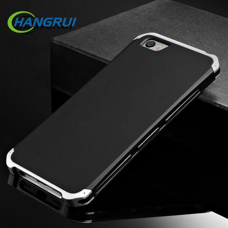 Cadre en métal étui de téléphone pour xiaomi Rouge mi Note 7 6 5 Pro 5A 4 4X Cas 3 en 1 Hybride PC Dur Funda Pour Xiao mi mi 5 mi 8 9 6 mi x Capa