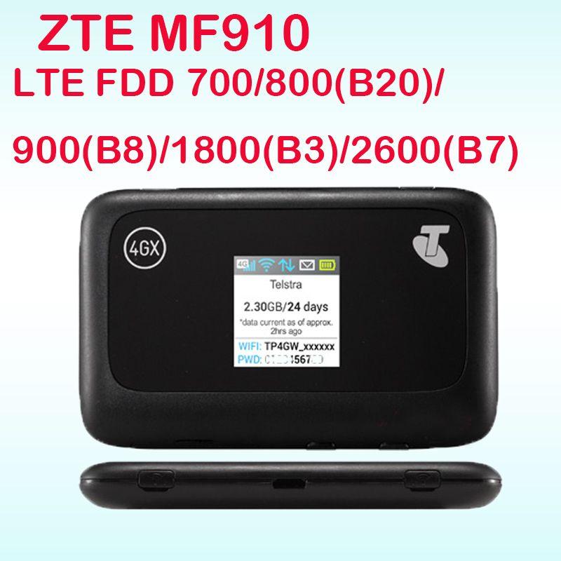 Débloqué ZTE MF910 LTE 4g WIFI Routeur 4g wifi dongle Mobile Hotspot 150 Mbps Réseau Routeur pk mf90 r212 mf91 mf93 mf80 mf95 mf60