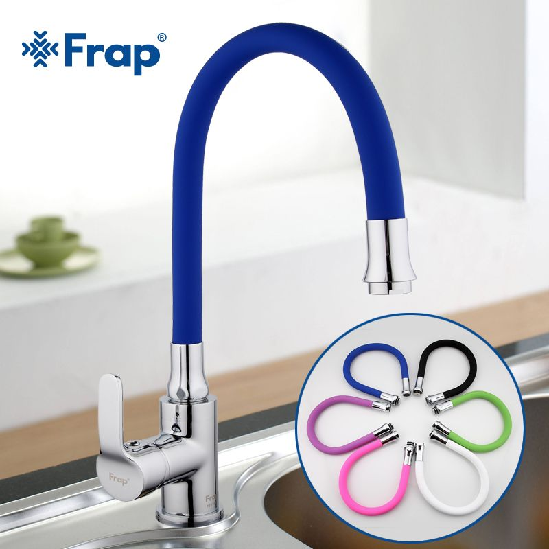 Frap Silica Gel Nose Any Direction Rotating Kitchen Faucet <font><b>Cold</b></font> and Hot Water Mixer Torneira Cozinha Single Handle Tap F4353