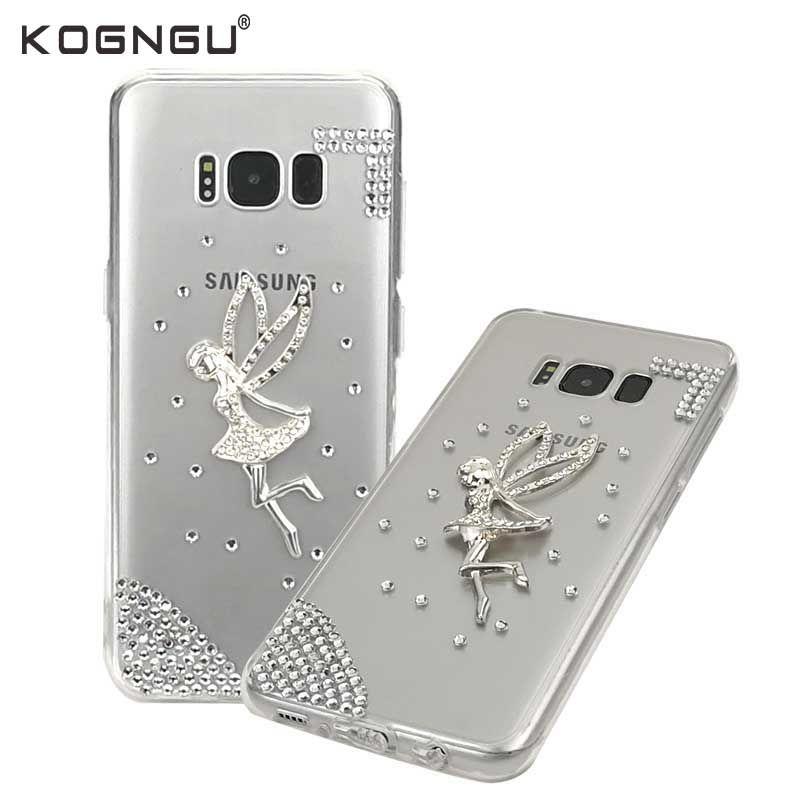 Kogngu Luxury Rhinestone Cases for Samsung Galaxy S8 Cover Soft TPU Cases for Samsung S8 Case Mobile Phone Cases Covers